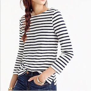 J Crew nautical long sleeved shirt navy blue sz S